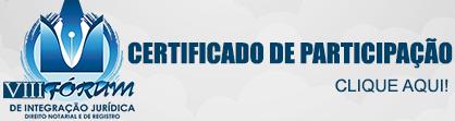 VIII FÓRUM DE INTEGRAÇÃO JURÍDICA