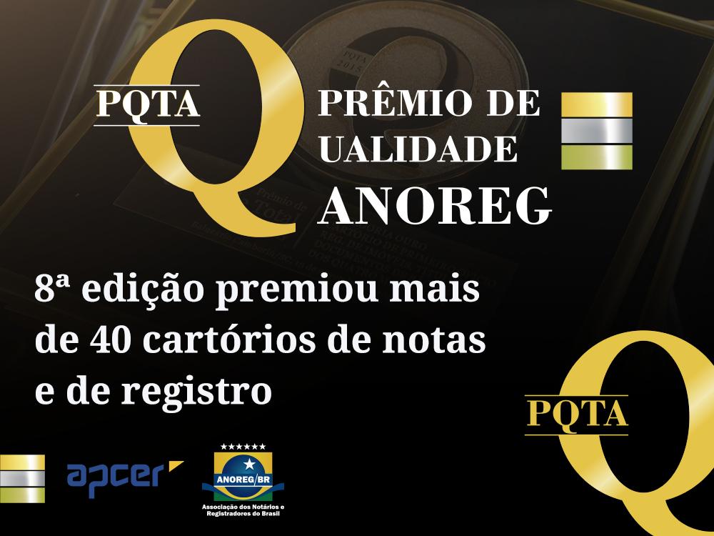 Prêmio Qualidade Total Anoreg 2012 Premiou Mais De 40 Cartórios De Notas E De Registro