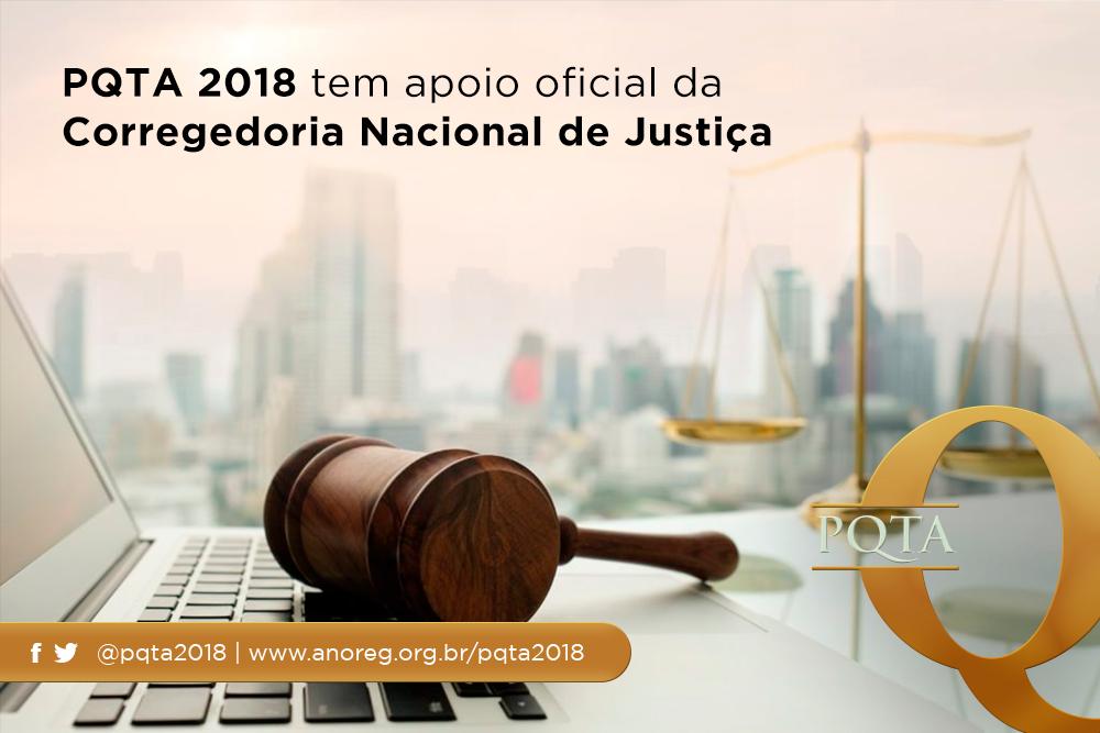 PQTA 2018 Tem Apoio Oficial Da Corregedoria Nacional De Justiça