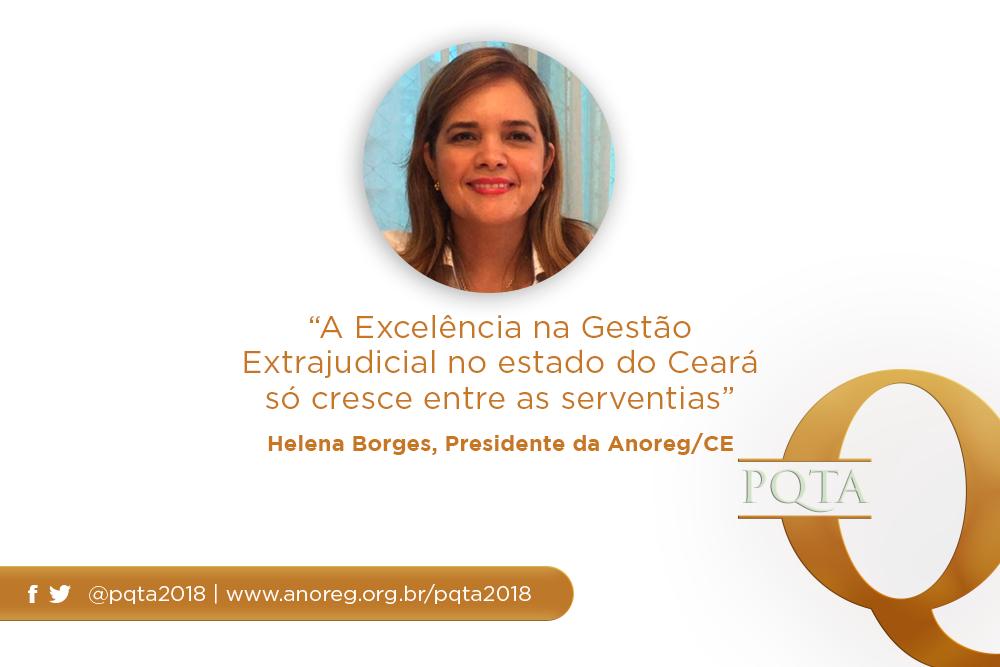 """""""A Excelência Na Gestão Extrajudicial No Estado Do Ceará Só Cresce Entre As Serventias"""", Helena Borges, Presidente Da Anoreg/CE"""