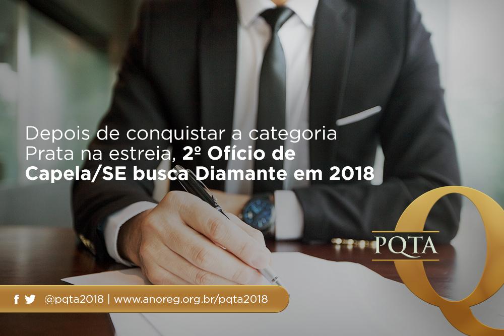 Cartório De Capela/SE Espera Conquistar A Categoria Diamante Em 2018