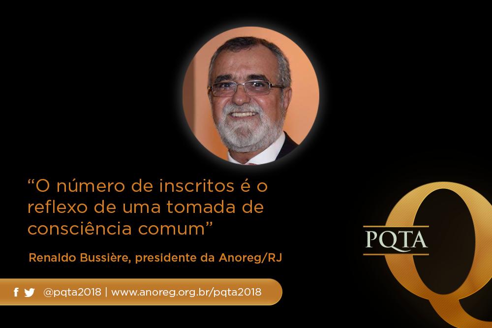 """""""O Número De Inscritos é O Reflexo De Uma Tomada De Consciência Comum"""", Renaldo Bussière, Presidente Da Anoreg/RJ"""