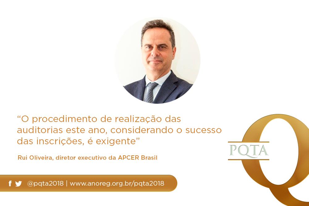 """""""O Procedimento De Realização Das Auditorias Este Ano, Considerando O Sucesso Das Inscrições, é Exigente"""", Rui Oliveira, Diretor Da APCER Brasil"""